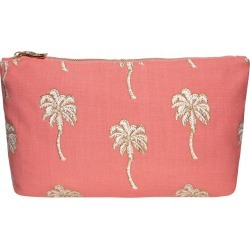 Elizabeth Scarlett - Palmier Travel Pouch - Coral found on Makeup Collection from Amara UK for GBP 25.99