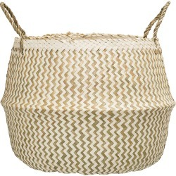 Bloomingville - Panier Zigzag en Algue - Blanc found on Bargain Bro Philippines from Amara FR for $45.50