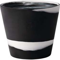 Wedgwood - Burlington Pot - White on Black - 12.5cm found on Bargain Bro UK from Amara UK