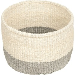 The Basket Room - Colour Block Itale Hand Woven Basket - Grey - XS