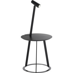 Horm & Casamania - Albino Side Table & Lamp - Black