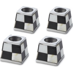 MacKenzie-Childs - Pyramid Candle Holders - Set of 4 - White found on Bargain Bro India from Amara US for $102.00