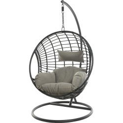 AMARA Outdoors - Circle Wicker Hanging Chair - Black found on Bargain Bro UK from Amara UK