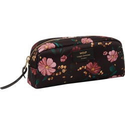 Wouf - Black Flowers Cosmetic Bag - Small found on Makeup Collection from Amara UK for GBP 27.07