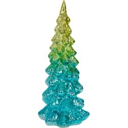 A by Amara - Light Up Glass Tree Ornament - Blue/Green - Large found on Bargain Bro UK from Amara UK