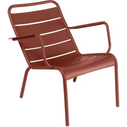 Fermob - Luxembourg Low Armchair - Red Ochre found on Bargain Bro UK from Amara UK