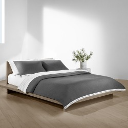 Calvin Klein - Classic Logo Duvet Cover - Heathered Charcoal - Double found on Bargain Bro India from Amara US for $137.00
