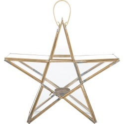 Nkuku - Sanwi Standing Star Lantern - Brass - Small found on Bargain Bro UK from Amara UK