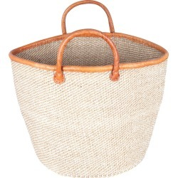 The Basket Room - Heri Hand Woven Laundry/Storage Basket - Beige/White Speckled found on Bargain Bro Philippines from Amara US for $143.00