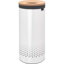 Brabantia - Cork Lid Laundry Bin - White - 35 Liters found on Bargain Bro Philippines from Amara US for $101.00