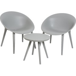 A by Amara - Marbella Table and Chairs Set - Light Grey found on Bargain Bro UK from Amara UK