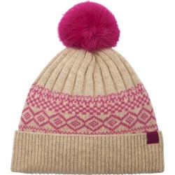 Joules - Elsa Fairisle Knitted Bobble Hat - Cream found on MODAPINS from Amara UK for USD $15.88