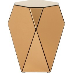 Nordal - Iras Glass Side Table - Brown