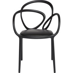 Qeeboo - Chaise d'Extérieur Boucle - Noir found on Bargain Bro Philippines from Amara FR for $387.40
