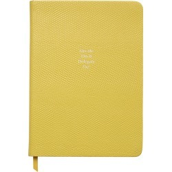 Organise-Us - 'Decide Ditch Delegate Do!' Medium Leather Notebook - Sunshine Yellow found on Bargain Bro UK from Amara UK