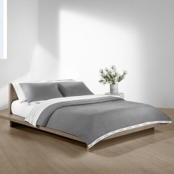 Calvin Klein - Classic Logo Duvet Cover - Heathered Gray - Double found on Bargain Bro India from Amara US for $137.00