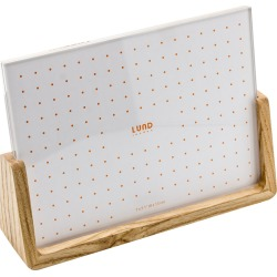 Lund London - Nordic Wooden Base Photo Frame - 5x7""