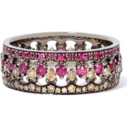 Annoushka Crown Interlaced Ruby Ring Stack in 18ct Mixed Golds