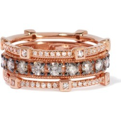 Annoushka Icy Diamond Ring Stack in 18ct Rose Gold