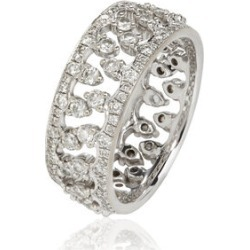 Annoushka Crown Interlaced Ring Stack in 18ct White Gold