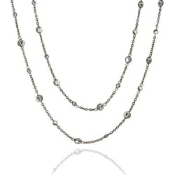 Annoushka Nectar 18ct Rhodium Plated White Gold Sapphire Necklace found on Bargain Bro UK from annoushka