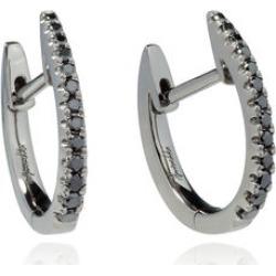 Annoushka Eclipse 18ct White Gold Black Diamond Fine Hoop Earrings found on Bargain Bro UK from annoushka