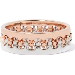 Annoushka Crown Interlaced Ring Stack in 18ct Mixed Golds
