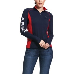 Women's Tri Factor 1/4 Zip Baselayer Top Long Sleeve in Blue, Size X-Small, by Ariat found on Bargain Bro UK from Ariat (UK)
