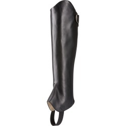 Kendron Chap Half in Black Leather, Regular Height, XX-Small Calf, Size 2X-Small, by Ariat found on Bargain Bro UK from Ariat (UK)