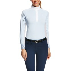 Women's Marquis Show Top Long Sleeve in Blue Cloud Stripe, Size Medium, by Ariat