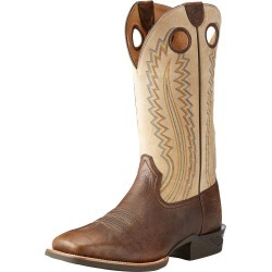 Men's Catalyst Plus Western Boots in Bar Top Bison Leather, D Medium Width, Size 10, by Ariat found on Bargain Bro UK from Ariat (UK)