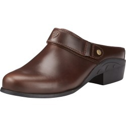 Women's Sport Mule in Waxed Chocolate Leather, B Medium Width, Size 5.5, by Ariat found on Bargain Bro UK from Ariat (UK)