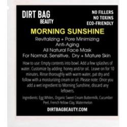 Dirt Bag Beauty Morning Sunshine Clay-Based Face Mask Single Use