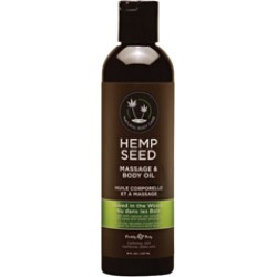 Earthly Body Hemp Seed Massage & Body Oil Naked in The Woods