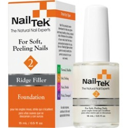 Nail Tek Ridge Filler 2 Foundation - For Soft Peeling Nails 0.5 oz
