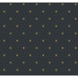 Small Prints Resource Library Black Two-Inch Stella Star Wallpaper