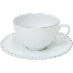 Pearl Tea Cup and Saucer (Set of 4)