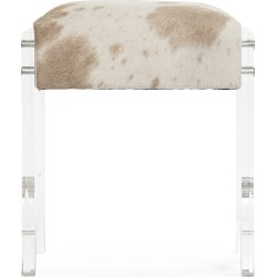 Lars Acrylic and Cowhide Stool found on Bargain Bro India from Belle & June for $3209.00