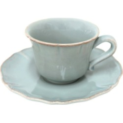 Alentejo Turquoise Tea Cup and Saucer (Set of 2)