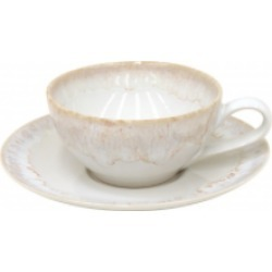 Taormina White Cup and Saucer (Set of 6)