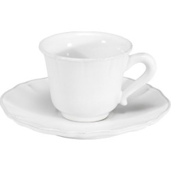 Alentejo White Cup and Saucer (Set of 2)