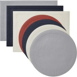 Paloma Navy Round Placemats S/4
