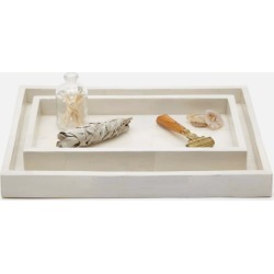 Arles White Faux Horn Tray Set found on Bargain Bro India from Belle & June for $470.00