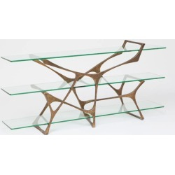 Gerald Aged Brass Console Table found on Bargain Bro India from Belle & June for $4350.00