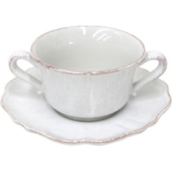 Impressions White Consomme Cup and Saucer (Set of 2)