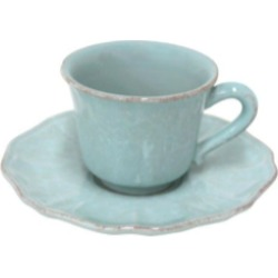 Impressions Robin's Egg Blue Coffee Cup and Saucer (Set of 4)