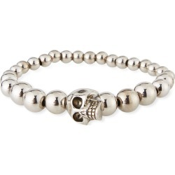 Men's Skull & Bead Bracelet, Silver found on Bargain Bro Philippines from Bergdorf Goodman for $395.00