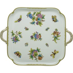 Queen Victoria Square Tray with Handles found on Bargain Bro Philippines from Bergdorf Goodman for $720.00