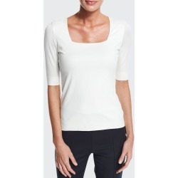 Square-Neck Half-Sleeve Top found on Bargain Bro Philippines from Bergdorf Goodman for $295.00
