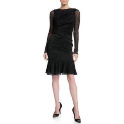 Shimmer Long-Sleeve Cocktail Dress found on MODAPINS from Bergdorf Goodman for USD $704.00